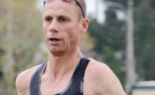 RUNNING MACHINE: Steve Moneghetti on his way to winning the half marathon at last year's Coffs Coast Running Festival.