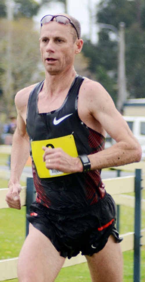 Olympian Steve Moneghetti powers to victory in the inaugural Bendigo Bank Half Marathon in Coffs Harbour.