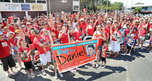 More than 550 people turned out for the Walk for Daniel from Torquay Sailing Club to Seafront Oval in Pialba on Saturday.