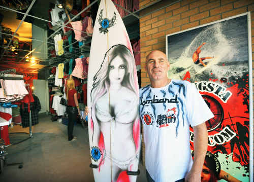 Glen Johnson is having the official opening of Gangsta Surf in Orlando St on Saturday.