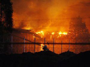 Ipswich Railway Workshops in flames