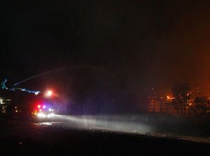 75 firies attend industrial blaze