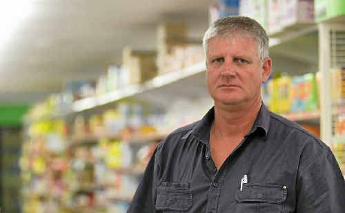 Colin Davis, owner of Foodworks Tancred on Gladstone Rd, is not impressed that his store was held up on Sunday night.