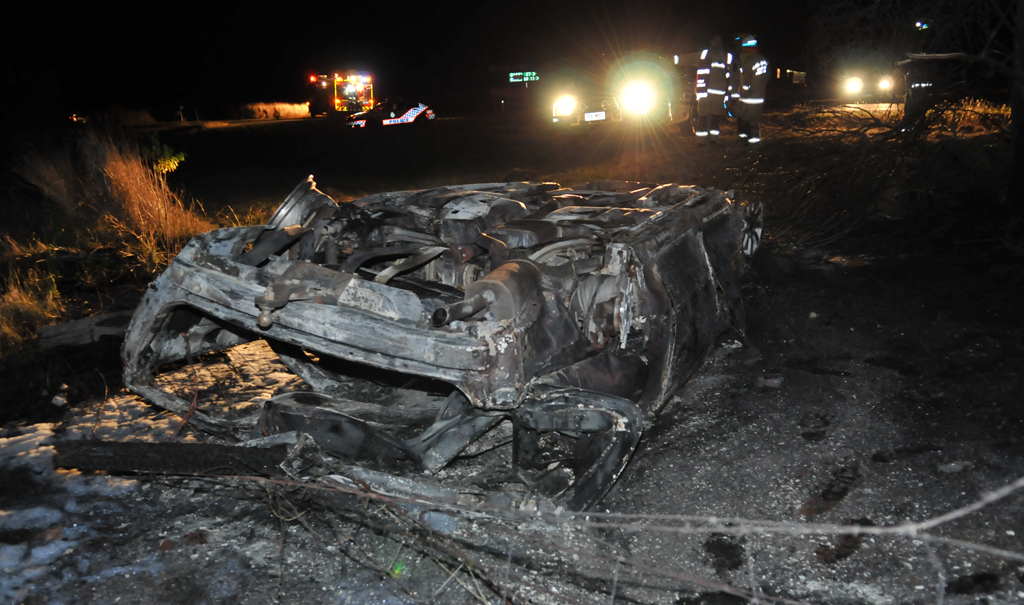 A man and woman escaped their rolled vehicle before it caught alight on the Gore Highway near Southbrook last night.