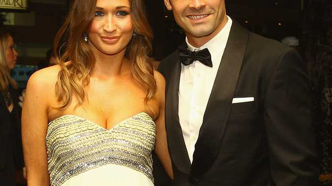Daniel Giansiracusa (right) and Kelly Giansiracusa at this year's Brownlow Medal ceremony.