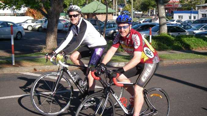 Ian Becker and Trevor Mulligan are raising funds for MS Australia in The MS Gong Ride.