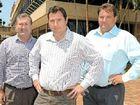 Bundaberg MP Jack Dempsey, Opposition Environment Minister Andrew Powell and LNP candidate for Burnett Stephen Bennett.