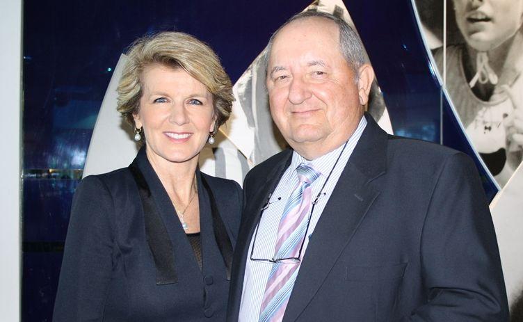 Deputy opposition leader Julie Bishop and Member for Fairfax Alex Somlyay.