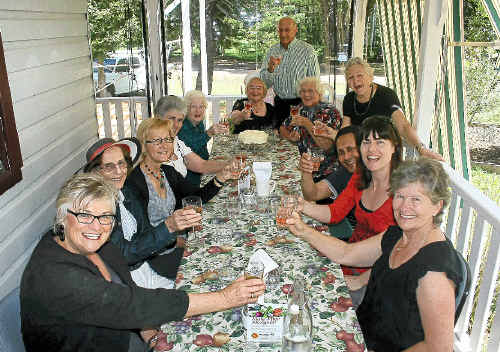HAPPY: Members of Friends of the Library celebrate the start of work on a new Byron Bay Library.