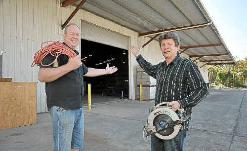 TAKING ACTION: Tom Lew and Alan McMullen, of Gateway Care, are launching a men's shed in Caloundra to enable older men to remain active.