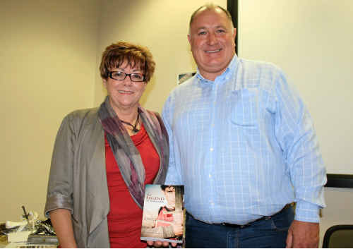 BOOK LAUNCH: Wendy Mackenzie launched the print edition of her book in the presence of family, friends and mayor Steve Jones at the Lockyer Valley Cultural Centre over the weekend.