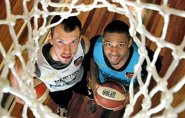 Gold Coast Blaze's American imports, Will Hudson and Mike English. Both men will play vital roles for their new team during the National Basketball League season.