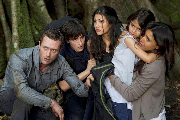 The Shannon Family. L-R: Jason O'Mara as Jim Shannon, Landon Liboiron as Josh Shannon, Naomi Scott as Maddy Shannon, Alana Mansour as Zoe Shannon and Shelley Conn as Elizabeth Shannon.