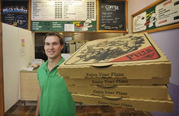 Big River Pizza's Brendan Albert is ready for the grand final rush.
