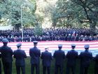 Hervey Bay's Mark Long, Dave Crisp, Justin Williams and Brett Johns joined more than 10,000 firefighters at a ceremony in New York on September 11.