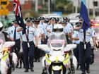 The Police Remembrance Day march and ceremony held at Browns Park in North Ipswich on Thursday.