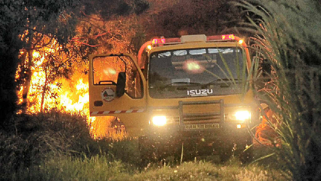 Firefighters battled the Sharon fires well into the night as they continued to erupt over the weekend.