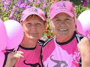 Pink flag flies in Walk of Hope