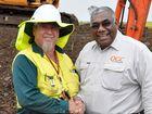 Mandandanji Limited CEO Bob Carlo (left) with QGC indigenous employment officer Gavin Vea Vea at Ag Training in Kingsthorpe