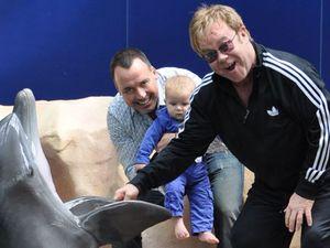 Elton takes Zachary to see a dolphin