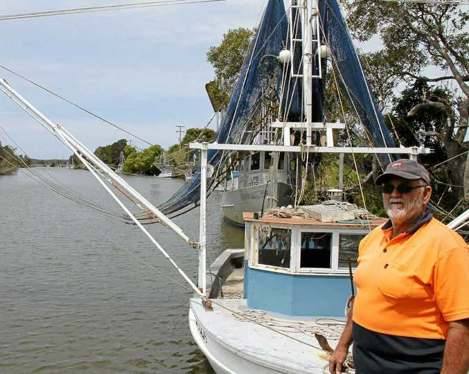 Despite catching no school prawns in Lake Wooloweyah since the season started on Tuesday Paul Apps said the dredging of Palmers Channel, pictured, was fantastic.