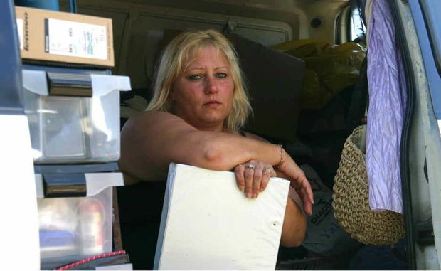 Kim Swan came to Emerald to work in the town. Now she is forced to sleep in her van because of the rental squeeze.