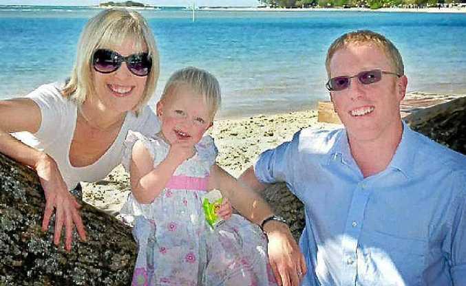 Jonathan Mason with his wife Anna and daughter Matilda.