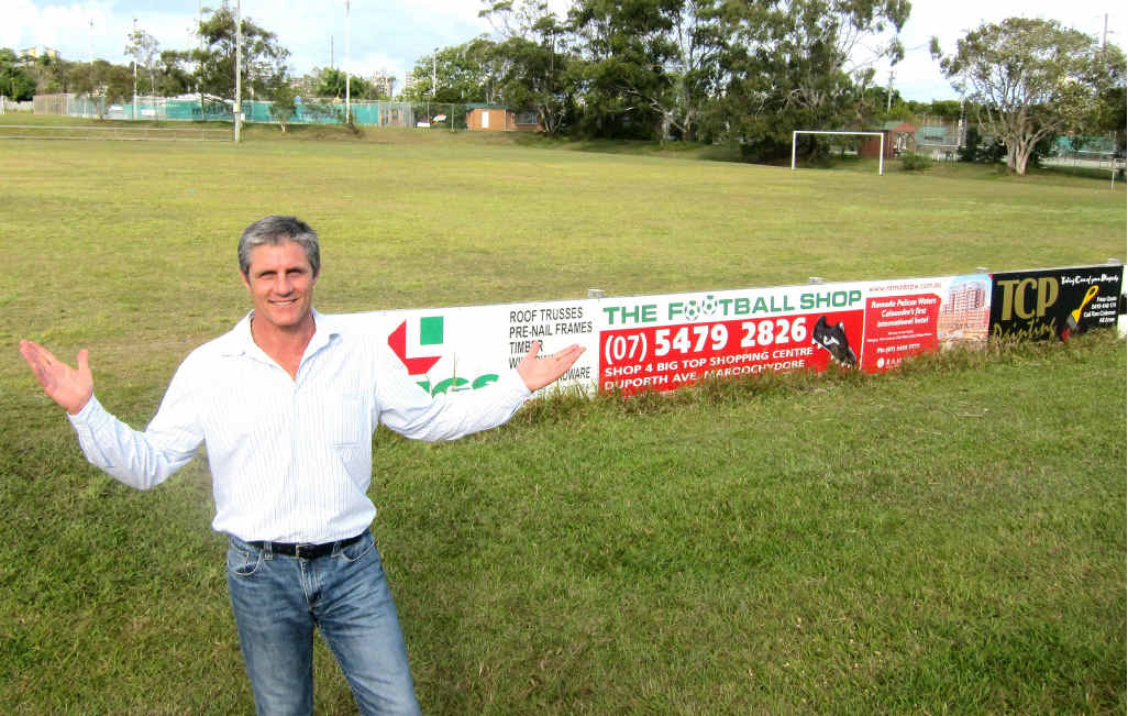 MOVING AHEAD: Councillor Tim Dwyer has big plans for the Caloundra sporting and recreation precinct.