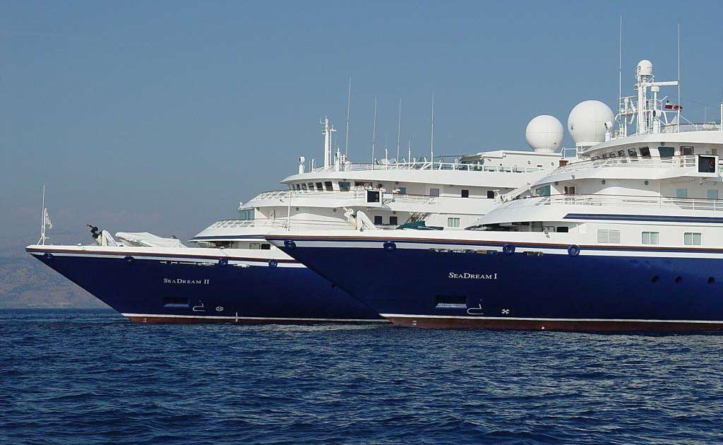SeaDream I and sister ship, SeaDream II.