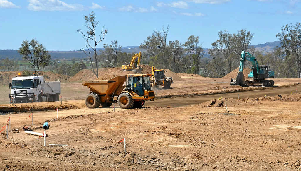 REBUILDING REAPS REWARD: The morning after winning the Tidy Towns Bush Spirit Award, the Lockyer Valley Regional Council's 'Strengthening Grantham' project is coming along.