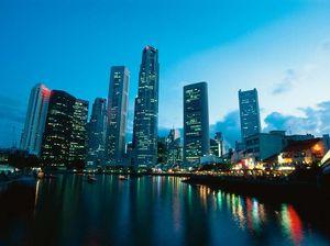 High above Singapore