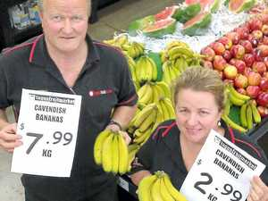 Banana prices bend back