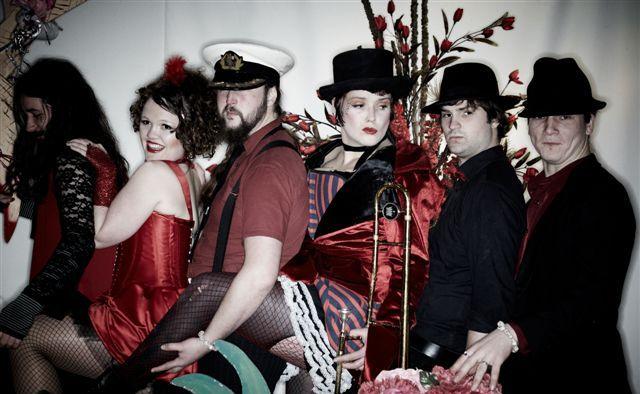 The Swingtanic Sextet at Burlesque Night in Nimbin.
