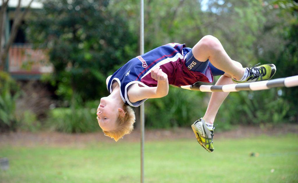 Australian high jump champion 11 year old Ben Schmidtchen from Narangba