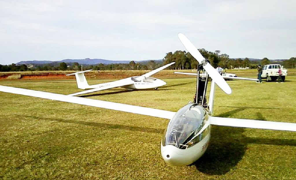 Gliders such as these will be at the Maryborough airport on October 15 and 16.