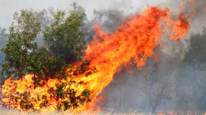 The Glengallan Rd bush fire spread quickly and threatened homes on the outskirts of Emerald.
