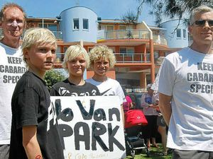 500 say 'no' to caravan park