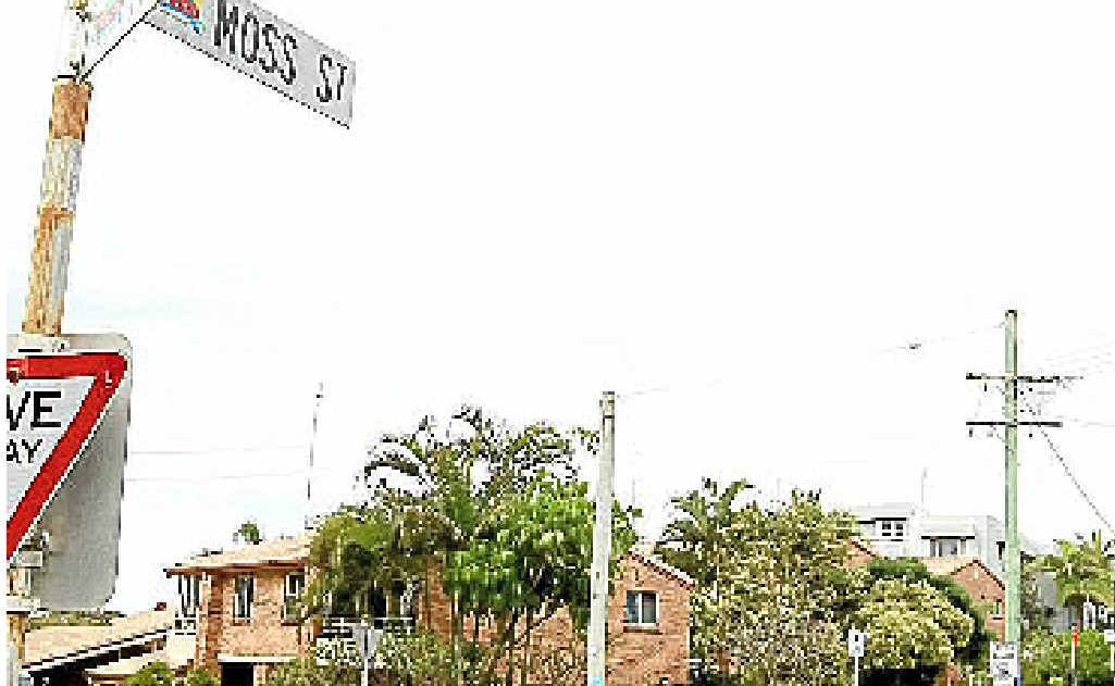 Moss St, Kingscliff, the scene of an attempted abduction on Sunday night.