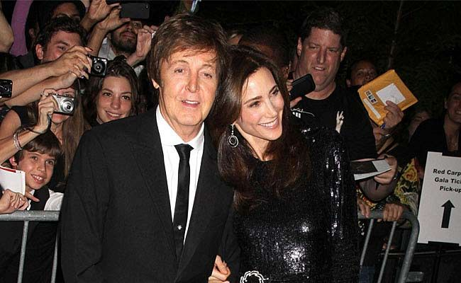 Paul McCartney and Nancy Shevell.