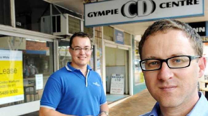 Marcus Westbury of Renew Australia and Gympie Chamber of Commerce president Ben Ellingsen take a look at the state of Mary St.