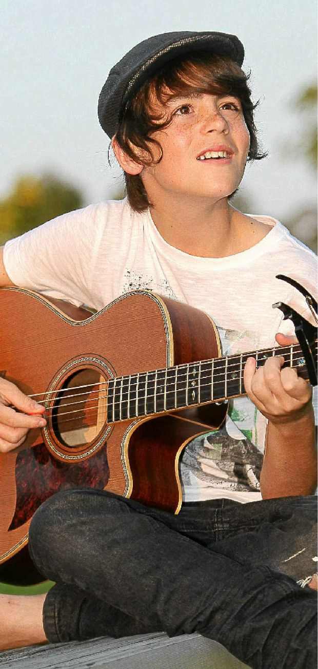 Tim Aitken, the winner of the Caloundra Music Festival busking competition.