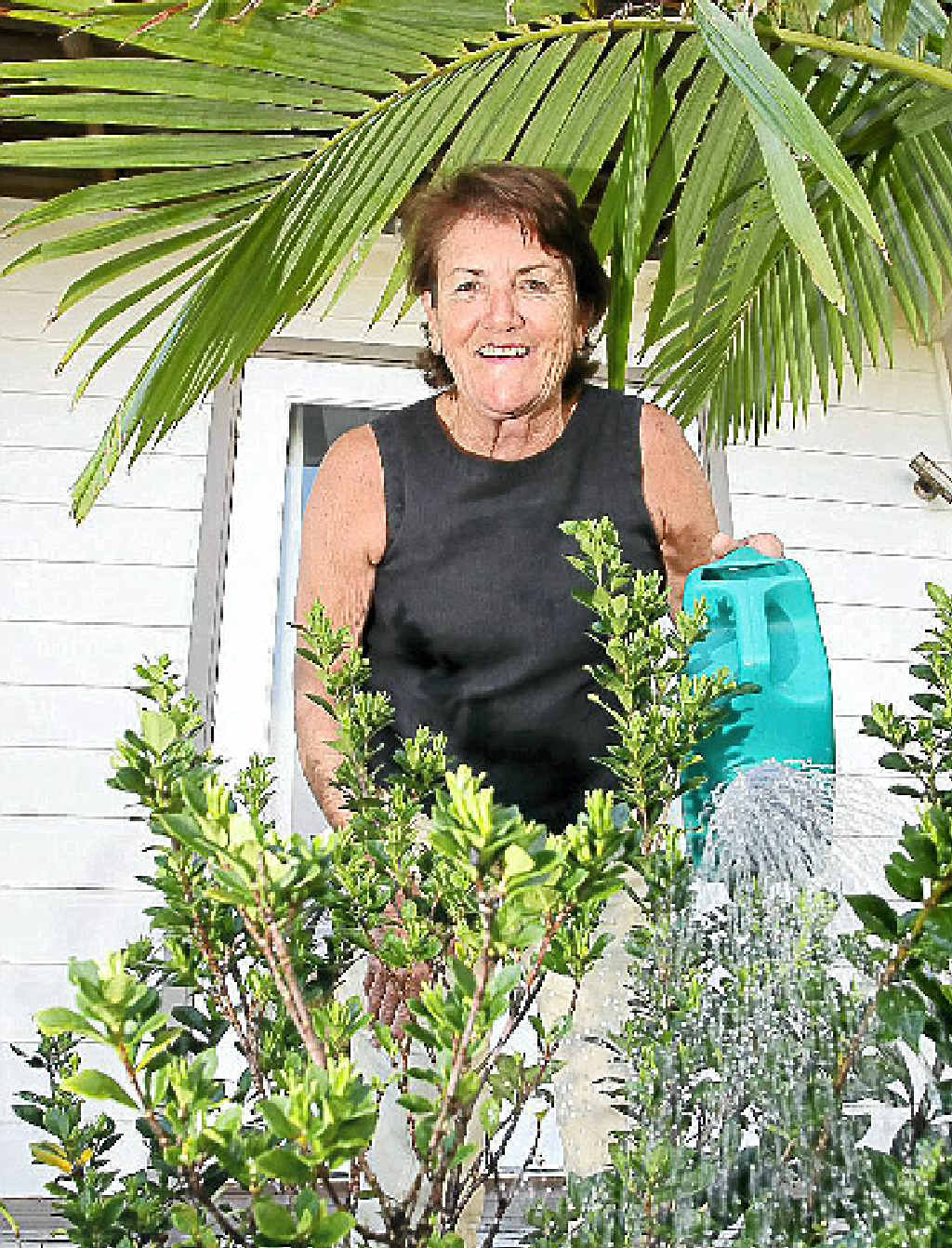 EVERY DROP COUNTS: Jill Derwin, of Marcoola, is passionate about saving water.