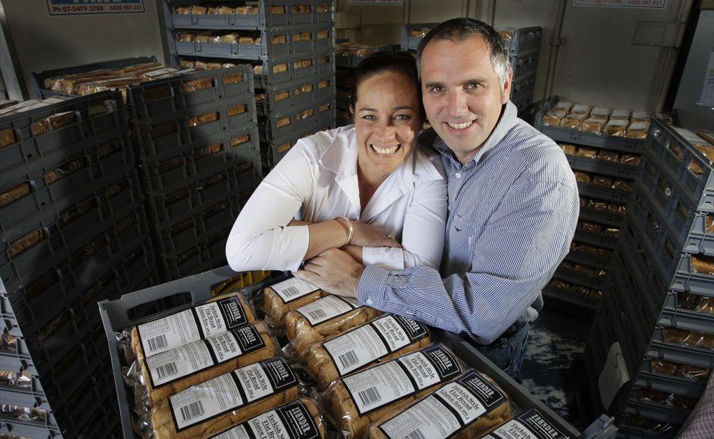 Naomi and Josef Zehnder of Zehnder Gluten Free inside their Maleny factory.
