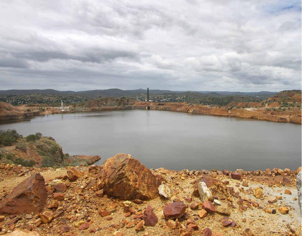 Mount Morgan mine pit.