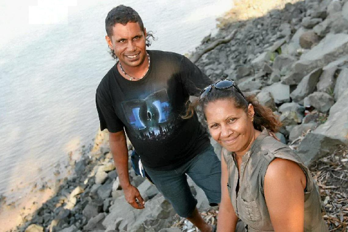 Berylanne Bauman, with her brother, Roy Bauman, are opposed to dugong hunting in Yetimarla lands or waterways.
