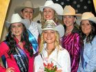 Warwick Rodeo Queen 2011, Tammie Conroy (centre front) with quest entrants, from left, Sharee Whitlock, Kymberley Edney, Ashleigh Grant , Kylie Bauer and Breanna Field.