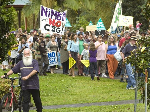 A file photo of an anti-CSG rally at Lismore.