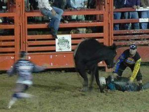 Riders, not bulls, needed prayers