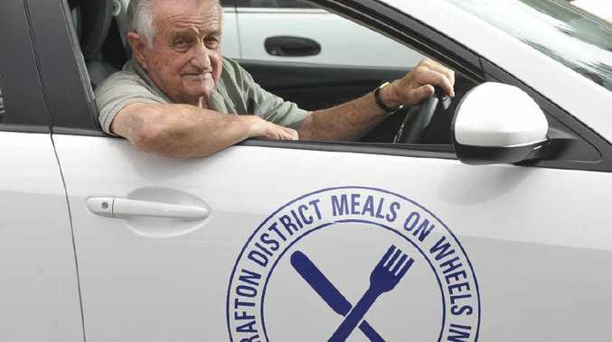 Doug Hooson, winner of Northern Rivers Senior Volunteer of the Year award for his Meals On Wheels work, sets out on a delivery run. Photo: Adam Hourigan
