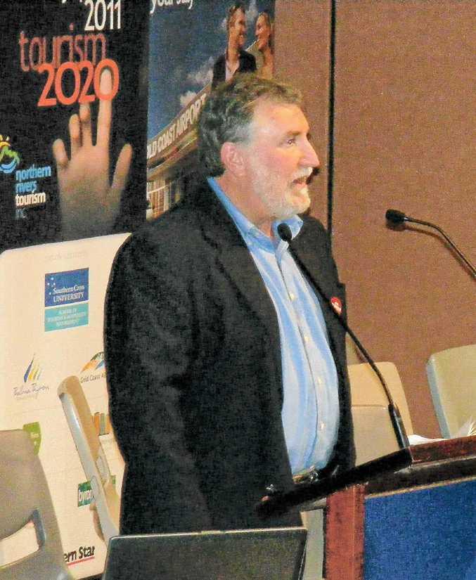 Aurora Research managing director John Larkin talks to delegates at the Tourism 2020 symposium.